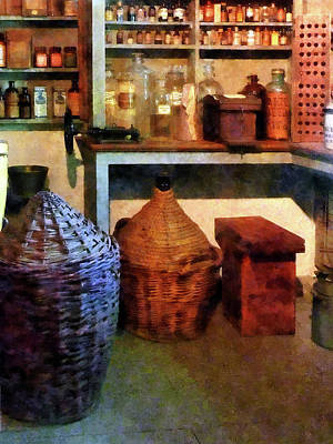 Photograph - Pharmacy - Medicine Bottles And Baskets by Susan Savad