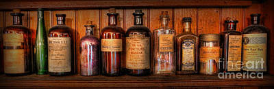 Photograph - Pharmacy - Medicine Bottles by Lee Dos Santos