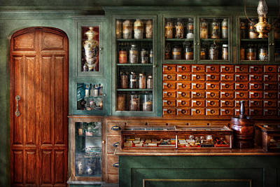 Drugstore Photograph - Pharmacy - Medicine - Pharmaceutical Remedies  by Mike Savad