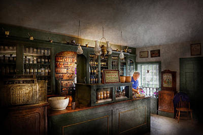 Druggist Photograph - Pharmacy - Morning Preparations by Mike Savad