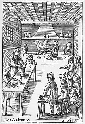 Pharmacy Preparations, 16th Century Art Print by Spl