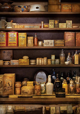 Photograph - Pharmacy - Quick I Need A Miracle Cure by Mike Savad