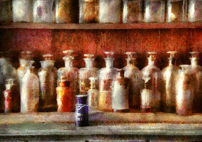 Pharmacy - The Medicine Counter Art Print by Mike Savad