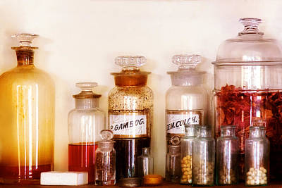 Photograph - Pharmacy - The Wizards Pantry by Mike Savad
