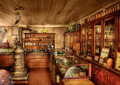 Time Photograph - Pharmacy - Turn Of The Century Pharmacy by Mike Savad