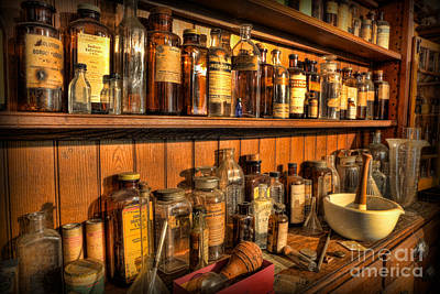 Photograph - Pharmacy - Victorian Apothecary by Lee Dos Santos