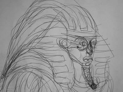 Matthew Joseph Williams Drawing - Pharoah by Artists With Autism Inc
