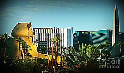 Pharoh Of Vegas Art Print by John Malone