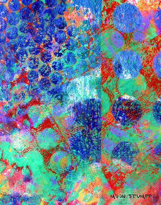 Abstract Energy Art Painting - Phase Series - Movement by Moon Stumpp