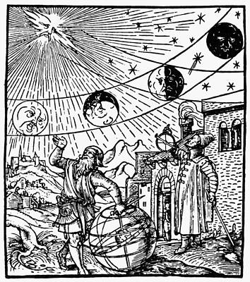 Cosmology Painting - Phases Of The Moon, 1534 by Granger