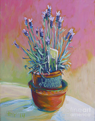 Terra Painting - Phat Lavender Left by Vanessa Hadady BFA MA