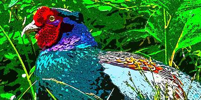 Digital Art - Pheasant Digiartwork by Tim Ernst