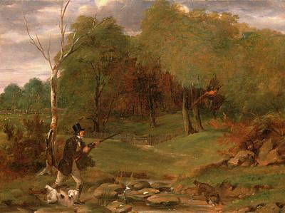 Pheasant Shooting, Edward Duncan, 1803-1882 Art Print