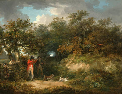 Pheasant Shooting, George Morland, 1763-1804 Art Print
