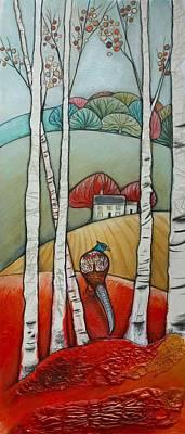 Pheasant Mixed Media - Pheasant Vista by Helen Bennett