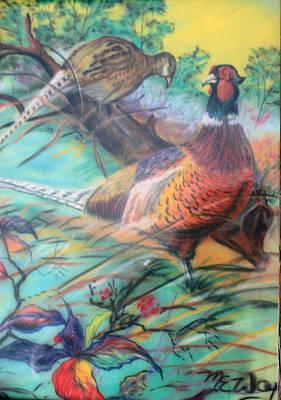 Pheasant Mixed Media - Pheasants by Martin Way