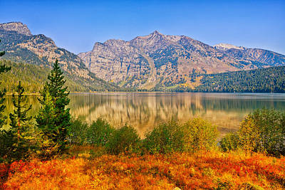 Photograph - Phelps Lake In Autumn by Greg Norrell