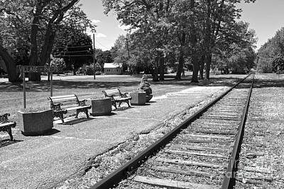 Photograph - Phelps Ny Train Station In Black And White by William Norton