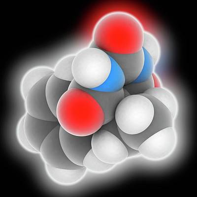 Phenobarbital Drug Molecule Art Print by Laguna Design