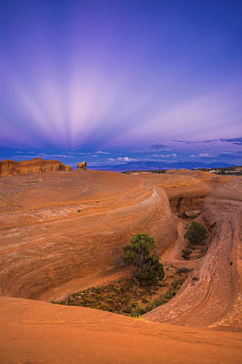 Southern Utah Photograph - Anticrepuscular Rays by Dustin  LeFevre