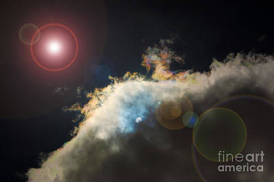 Phenomenon With Lens Flare Art Print by Debra Thompson