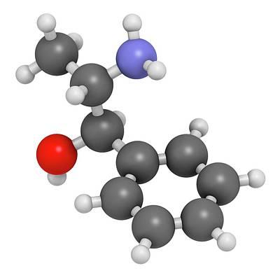 Cough Medicine Photograph - Phenylpropanolamine Drug Molecule by Molekuul