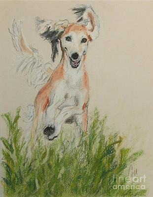 Loping Drawing - Pheret by Cori Solomon