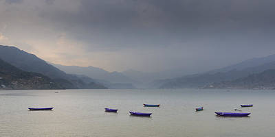 Phewa Lake In Pokhara Art Print