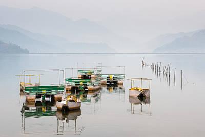 Phewa Lake In Pokhara Nepal Art Print