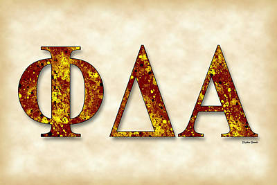 Phi Delta Alpha - Parchment Art Print by Stephen Younts
