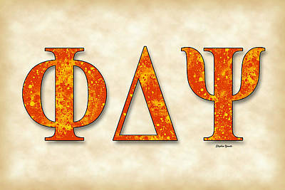 Phi Delta Psi - Parchment Art Print by Stephen Younts