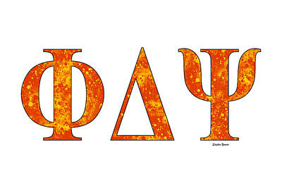 Phi Delta Psi - White Art Print by Stephen Younts