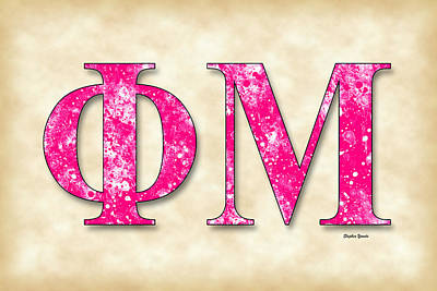 Phi Mu - Parchment Print by Stephen Younts