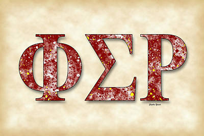 Phi Sigma Rho - Parchment Art Print by Stephen Younts