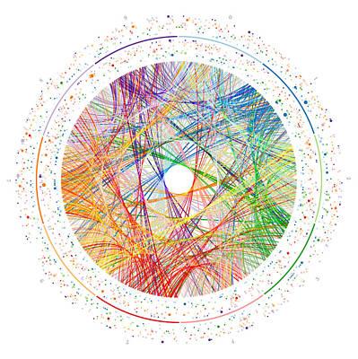 Digital Art - Phi Transition Paths by Martin Krzywinski
