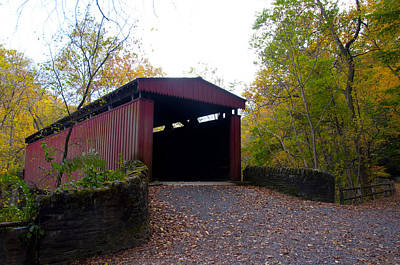Phillies Digital Art - Philadelphia's Thomas' Mill Covered Bridge by Bill Cannon