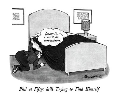 Phils Drawing - Phil At Fifty: Still Trying To Find Himself by J.B. Handelsman