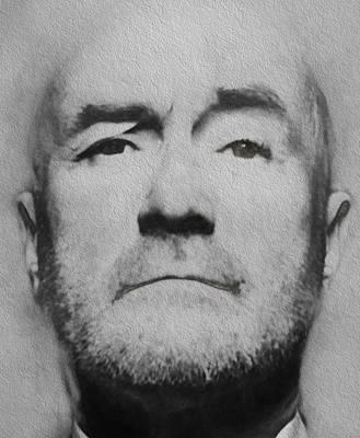 Concert Digital Art - Phil Collins Grey Portrait by Yury Malkov