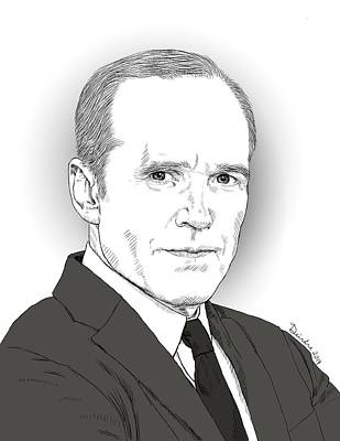 Drawing - Phil Coulson by Deirdre DeLay