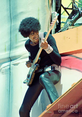 Phil Lynott Of Thin Lizzy - Black Rose Tour Day On The Green 7-4-79  Art Print by Daniel Larsen