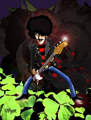 Drawing - Phil Lynott Of Thin Lizzy by Kev Moore