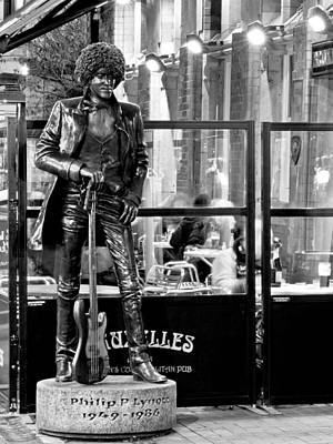 Photograph - Phil Lynott Statue - Dublin by Barry O Carroll