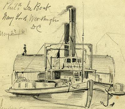Phila. Ice Boat. Navy Yard. Washington Dc May 2361 Art Print