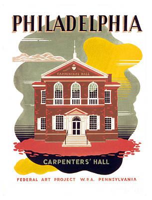 Philadelphia History Painting - Philadelphia - Carpenters' Hall by Pablo Romero