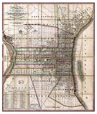 Philadelphia History Painting - Philadelphia - Pennsylvania - 1830 by Pablo Romero