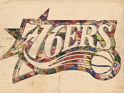 Sixers Digital Art - Philadelphia 76ers Poster Art by Florian Rodarte