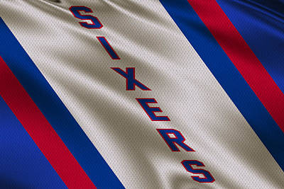 Philadelphia 76ers Uniform Art Print