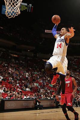Photograph - Philadelphia 76ers V Miami Heat by Issac Baldizon