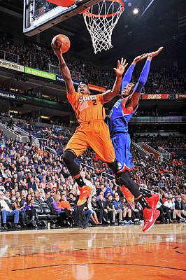 Photograph - Philadelphia 76ers V Phoenix Suns by Barry Gossage