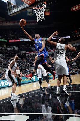 Photograph - Philadelphia 76ers V San Antonio Spurs by D. Clarke Evans